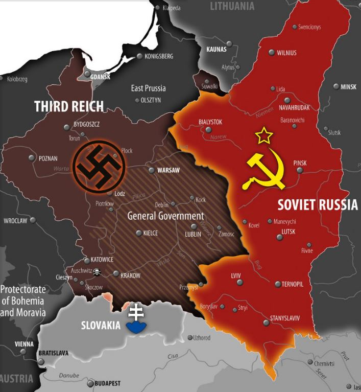 Map Of Germany During Wwii.World War Ii Central Europe Map Before Third Reich Invasion On