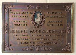 Modrzejewska plaque 1